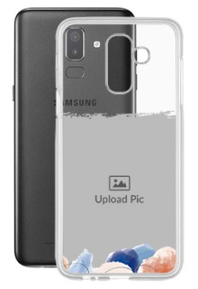 Water Colour Splash For Galaxy J8 (2018) Your Photo on Transparent Mobile Cases