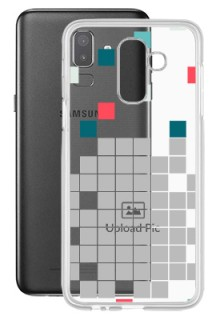 Mosaic Design For Galaxy J8 (2018) Customized Transparent Mobile Cases