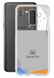 Wave Lines Dotted For Galaxy J8 (2018) Your Print on Transparent Phone Cases