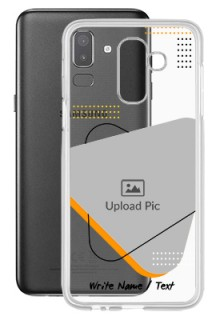 Yellow Triangle For Galaxy J8 (2018) Your Print on Transparent Mobile Cases