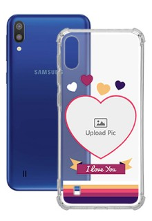 Love Shape images For Galaxy M10 Custom Transparent Clear Phone Case