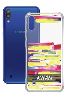 Brush Coloured For Galaxy M10 Your Photo on Transparent Mobile Cases