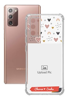 Love Pattern For Galaxy Note 20 Your Photo on Transparent Mobile Cases