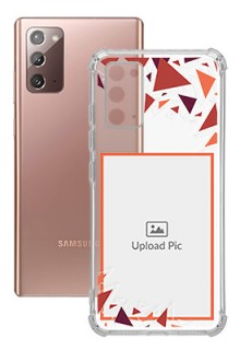 Triangle Flakes Design For Galaxy Note 20 Personalised Transparent Clear Phone Case