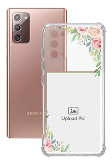 Floral Design Theme For Galaxy Note 20 Your Photo on Transparent Mobile Cases