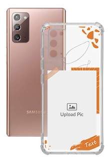 Orange Photo Frame For Galaxy Note 20 Your Photo on Transparent Mobile Cases