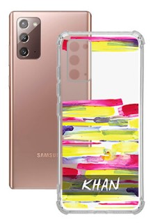 Brush Coloured For Galaxy Note 20 Your Photo on Transparent Mobile Cases