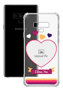 Love Shape images For Galaxy Note 9 Custom Transparent Clear Phone Case