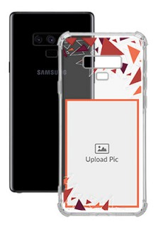 Triangle Flakes Design For Galaxy Note 9 Personalised Transparent Clear Phone Case