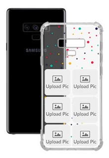 6 images Dotted Design For Galaxy Note 9 Customized Transparent Mobile Cases