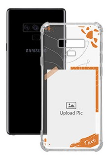 Orange Photo Frame For Galaxy Note 9 Your Photo on Transparent Mobile Cases