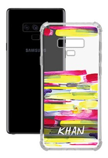 Brush Coloured For Galaxy Note 9 Your Photo on Transparent Mobile Cases