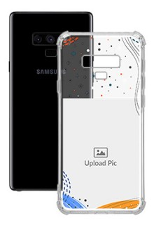 Wave Lines Dotted For Galaxy Note 9 Your Print on Transparent Phone Cases