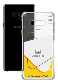 Yellow Triangle For Galaxy Note 9 Your Print on Transparent Mobile Cases