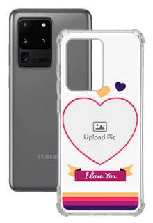 Love Shape images For Galaxy S20 Ultra Custom Transparent Clear Phone Case