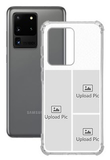 3 images For Galaxy S20 Ultra Your Photo on Transparent Mobile Cases
