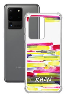 Brush Coloured For Galaxy S20 Ultra Your Photo on Transparent Mobile Cases