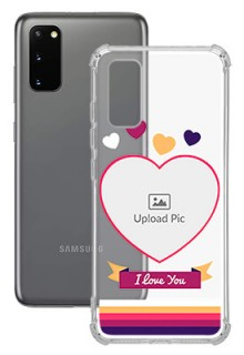 Love Shape images For Galaxy S20 Custom Transparent Clear Phone Case