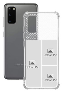 3 images For Galaxy S20 Your Photo on Transparent Mobile Cases