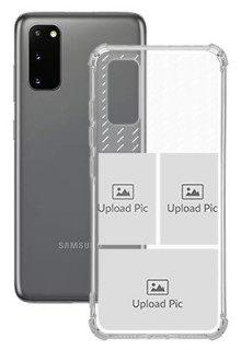 3 images with Text For Galaxy S20 Custom Transparent Clear Phone Case