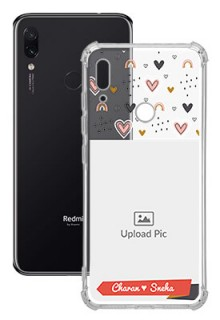 Love Pattern For Redmi Note 7 Your Photo on Transparent Mobile Cases