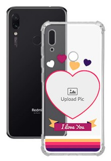 Love Shape images For Redmi Note 7 Custom Transparent Clear Phone Case