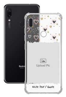 Love Theme For Redmi Note 7 Personalised Transparent Clear Phone Case