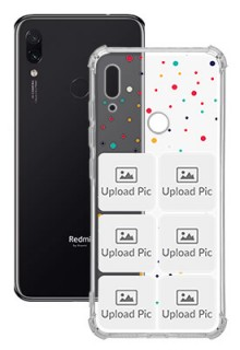 6 images Dotted Design For Redmi Note 7 Customized Transparent Mobile Cases