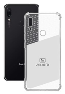 Black Dotted Design with Text For Redmi Note 7 Personalised Transparent Clear Phone Case