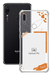 Orange Photo Frame For Redmi Note 7 Your Photo on Transparent Mobile Cases