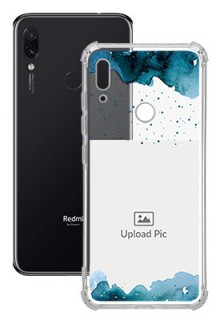 Blue Water Color For Redmi Note 7 Personalised Transparent Clear Phone Case