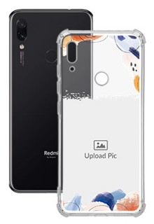 Water Colour Splash For Redmi Note 7 Your Photo on Transparent Mobile Cases