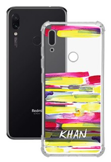Brush Coloured For Redmi Note 7 Your Photo on Transparent Mobile Cases
