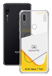 Yellow Triangle For Redmi Note 7 Your Print on Transparent Mobile Cases