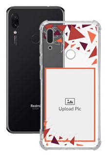 Triangle Flakes Design For Redmi Note 7S Personalised Transparent Clear Phone Case