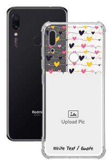 Love Multicolored For Redmi Note 7S Customized Transparent Mobile Cases