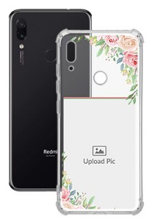 Floral Design Theme For Redmi Note 7S Your Photo on Transparent Mobile Cases