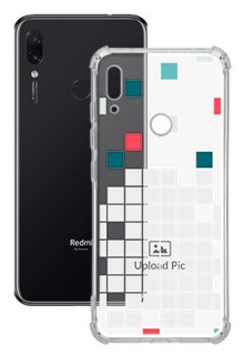 Mosaic Design For Redmi Note 7S Customized Transparent Mobile Cases