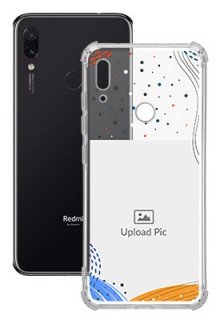 Wave Lines Dotted For Redmi Note 7S Your Print on Transparent Phone Cases
