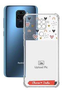 Love Pattern For Redmi Note 9 Your Photo on Transparent Mobile Cases