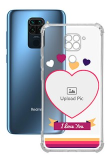 Love Shape images For Redmi Note 9 Custom Transparent Clear Phone Case