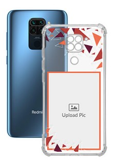 Triangle Flakes Design For Redmi Note 9 Personalised Transparent Clear Phone Case