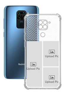 3 images For Redmi Note 9 Your Photo on Transparent Mobile Cases