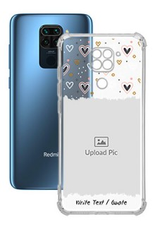 Love Theme For Redmi Note 9 Personalised Transparent Clear Phone Case