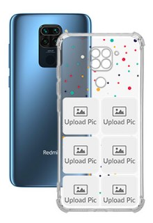 6 images Dotted Design For Redmi Note 9 Customized Transparent Mobile Cases