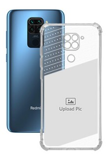 Black Dotted Design with Text For Redmi Note 9 Personalised Transparent Clear Phone Case