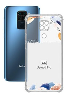 Water Colour Splash For Redmi Note 9 Your Photo on Transparent Mobile Cases