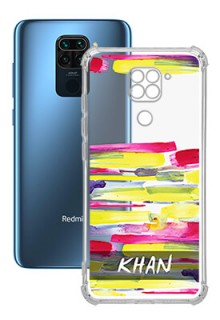 Brush Coloured For Redmi Note 9 Your Photo on Transparent Mobile Cases