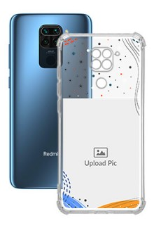 Wave Lines Dotted For Redmi Note 9 Your Print on Transparent Phone Cases