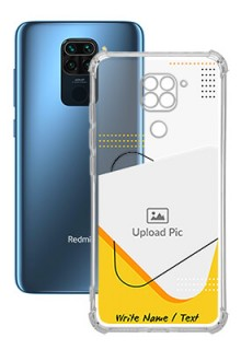 Yellow Triangle For Redmi Note 9 Your Print on Transparent Mobile Cases